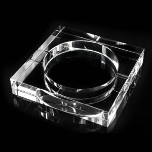Square K9 Crystal Glass Ashtray for Office Decoration pictures & photos