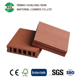 Hollow WPC Decking with Certification and Good Price (HLM59) pictures & photos