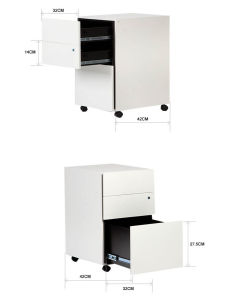 3 Drawer Filing Storage Cabinet Lockable Movable Filing pictures & photos