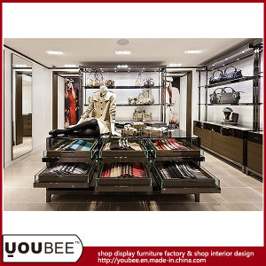 High End Wooden Display Fixtures for Luxury Ladies′ Clothes Shop Design pictures & photos