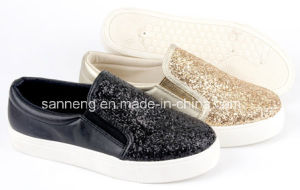 Bling Bling Slip on Women Injection Shoes pictures & photos