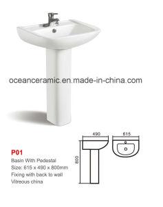 Ceramic Pedestal Sink (No. P01) pictures & photos