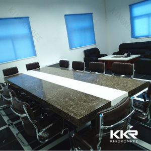 customized design artificial marble stone conference table