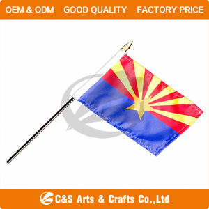 Custom Polyester National Advertising Hand Flag/Banner pictures & photos