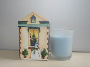Snowman Christmas Glass Jar 175g Soy Wax Candle pictures & photos