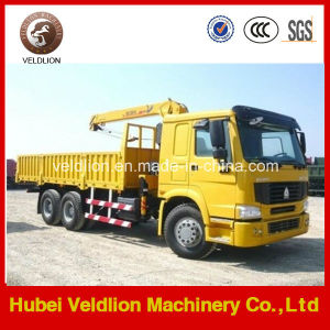 Sinotruk Hydraulic 10 Ton Knuckle Boom Truck Mounted Crane pictures & photos