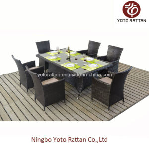 Outdoor Wicker Dining Set with 6 Chairs (1112) pictures & photos