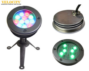 12PCS Stainless Steel Recessed IP68 RGB LED Underwater Pool Light for Landscaping pictures & photos