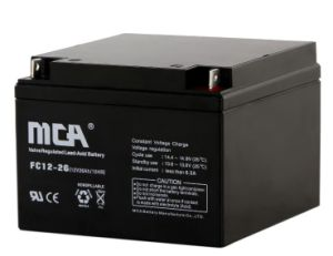 12V 26ah Rechargeable VRLA Battery with 8.2kg pictures & photos