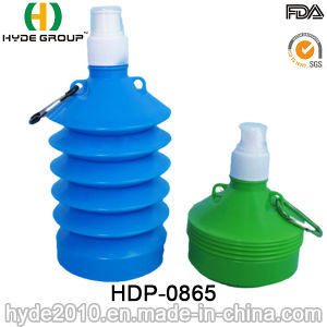 Fashion Design Leak-Proof Folding Plastic Sport Water Bottle (HDP-0865) pictures & photos