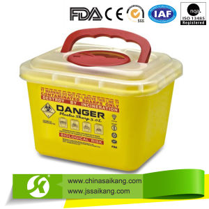Hospital Plastic Sharps Containers (SKQ002) pictures & photos