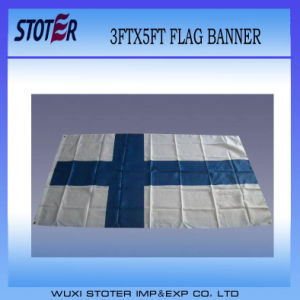 Cheap Custom Polyester Finland Nation Flag pictures & photos