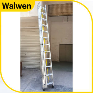 3 Sections Aluminum Multi-Purpose Telsescopic Firefighting Ladder pictures & photos