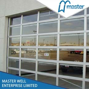 Aluminum Glass Door/ Aluminum Frame Garage Door for Commercial Use pictures & photos