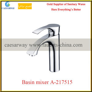 Single Handle Deck Mounted Brass Bathroom Wash Water Basin Tap pictures & photos