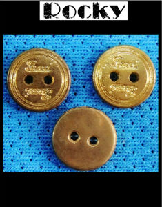 Gold Color Sewing Button Hand-Sew Button pictures & photos