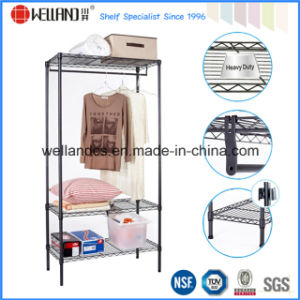 Modern Epoy Coated Black Steel Wire Garment Cloth Hanger Rack pictures & photos