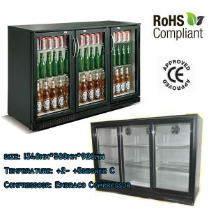 CE Approved Black Beer Mini Bar Cooler with Glass Doors (WGL-298) pictures & photos