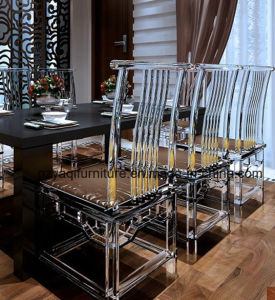 Clear Plastic Dining Desk Chair Restaurant Chair