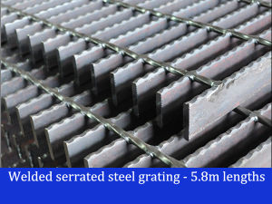 Welded Serrated Steel Bar Grating pictures & photos