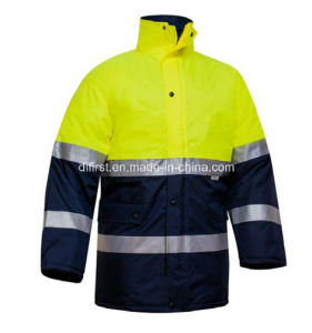 Parka Reflective Safety Jacket with Pocket pictures & photos