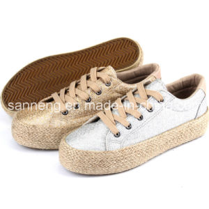 2016 New Vulcanized Women Canvas Shoes with Hemp Rope (SNC-280033) pictures & photos