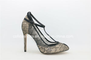 Fashion High Heels Dress Women Peep Toe Lady Shoes pictures & photos
