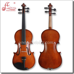 Solid Wood Body Quality Dyed Hardwood Fingerboard Violin (AVL-17) pictures & photos