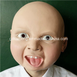 Creepy Angry Smile Baby Full Head Face Latex Mask Halloween Costume Scary Cosplay Mask pictures & photos