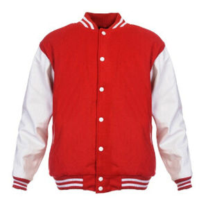Men Womens Plain Varsity Baseball Jacket Coat College Casual Sweater Sports Tops
