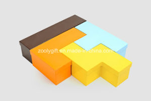 Cardboard Display Russia Block Tetris Shaped Jewelry Boxes pictures & photos
