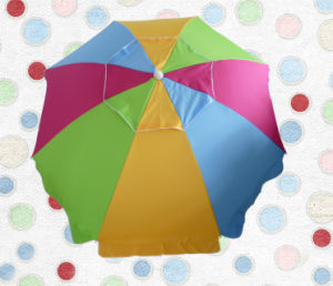 240cm*8k Beach Umbrella with Colorful Fabric, Waterproof, Upf50+, High Quality, Sun Umbrella