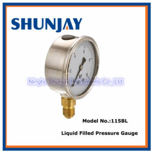 Oil Filled Liquid Stainless Steel Case Oil Pressure Gauge pictures & photos