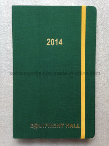 Bookbinding Cloth Moleskine Type Diary Notebook with Golden Embossed Logo pictures & photos