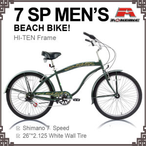 26 Hi-Ten 7 Speed Alloy Rim Beach Cruiser Bike (ARS-2606S) pictures & photos