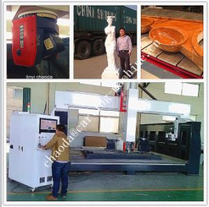 3D Foam/Stone/Aluminum/Wood Furniture Mould Sculpture Making Machine / CNC Milling Machine 5 Axis pictures & photos