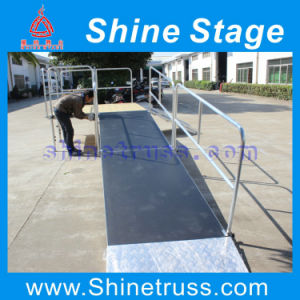 Aluminum Mobile Stage with Ramp, Performance Event Stage with Wheel Chair Ramp pictures & photos