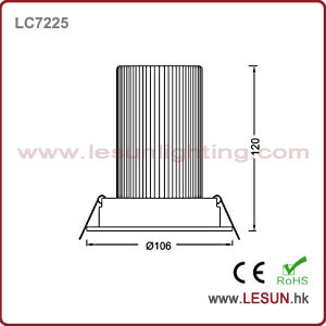 CE Approval Cut Hole 120mm 12*3W LED Down Light LC7212k pictures & photos