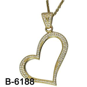 New Design Fashion Jewelry 925 Sterling Silver Pendant with Heart Shape pictures & photos