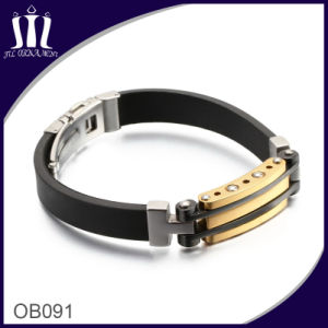 Silicone Bracelet Jewelry with Lock Ob091 pictures & photos