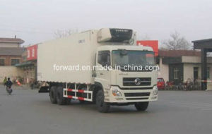 Dongfeng Cargo Truck with Glass Steel and Rear Hydraulic Platform