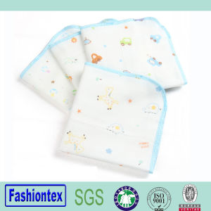 Wholesales 100% Cotton Printed Muslin Face Cloth Baby Handkerchief pictures & photos