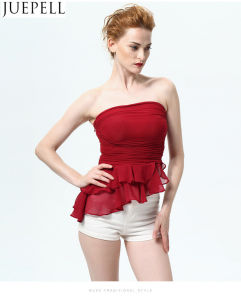 Summer New Flounced Women Bra Chest Wrapped Wild Bottoming Shirt Gauze Ruffle Vest Slim Sexy Blouse pictures & photos
