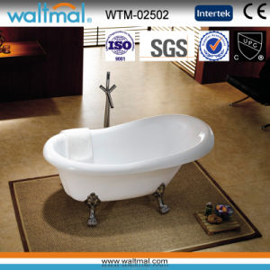 Classical Freestanding Bath Tub with Clawfoot pictures & photos