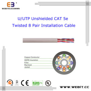 U/UTP Ushielded Cat 5e Twisted Pair Installation Cable/LAN Cable/ Data Cable/Network Cable pictures & photos
