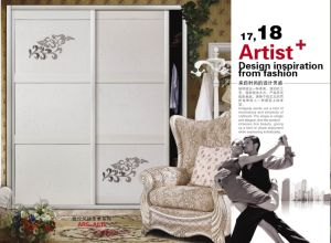 High Quality Morden Design PVC Shutter Series Wardrobe Sliding Door for Bedroom (yg-003) pictures & photos