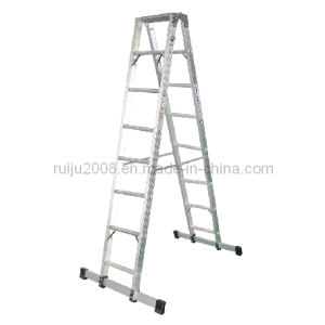 Heavy Duty Twin Aluminum Ladder for Communications pictures & photos