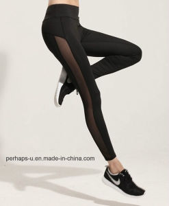 Sexy Ladies Tight Leggings with Mesh on 2 Side pictures & photos