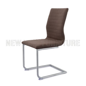 Classic Stainless Steel Foot PU Leather Dining Chair (NK-DC036)