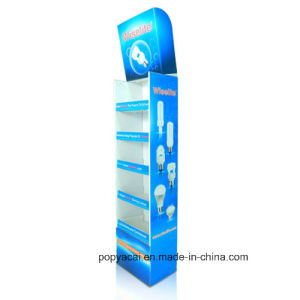 Paper Floor Display, Paper Shelf Display, Exhibition Display for Lamps pictures & photos